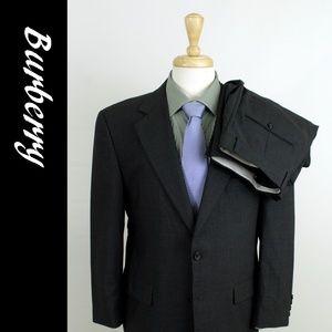 Burberry London 40S 34 Gray Nailhead Suit 28-C